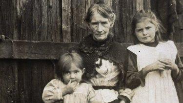 Ellen Kelly with grandchildren.