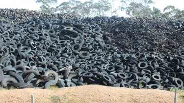 The Stawell tyre stockpile has sat dormant for almost 10 years.