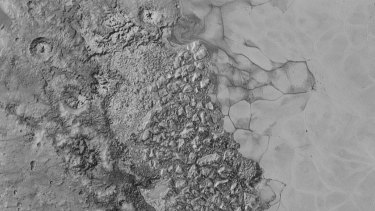 NASA's latest surface image of Pluto.