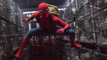 Tom Holland's Peter Parker adds a slapstick vibe in Spider-Man: Homecoming.