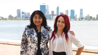 Lawyer Shirley McMurdo, with the help of law student volunteer Lucette Combo-Matsiona, has launched a means-tested domestic violence legal service in Perth.