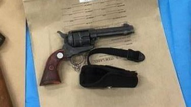 One of the 28 firearms police seized from a property in Eugowra, near Forbes, in central west NSW in April.