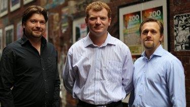 KISA co-founders from left Dennis Volodomanov, Dmitry Levin and Leon Kosher.