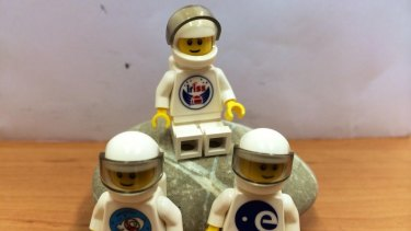Some of the Lego figurines now in space with Danish astronaut Andreas Mogensen.