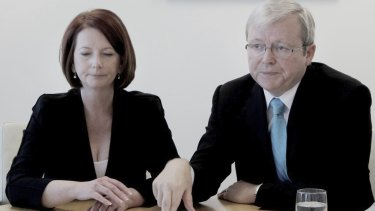 Strain shows: Julia Gillard and Kevin Rudd are among the subjects of The Manner of their Going: Prime Ministerial Exits from Lyne to Abbott, by Norman Abjorensen.