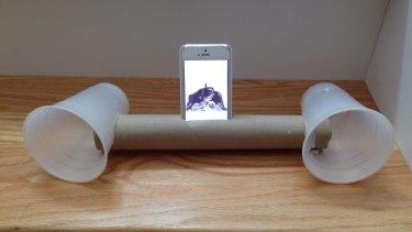 Reborn: The cardboard roll portable speaker.