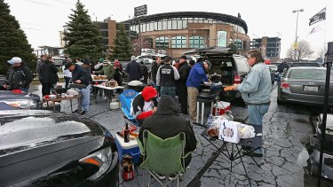 Tailgating: An American tradition in both College and the NFL.