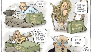 Dispatches from the economic frontline! Illustration: David Pope