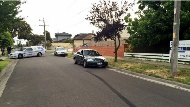 The green Honda Civic was found alight on Dawn Street, Dandenong.
