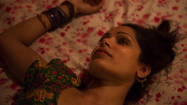 Freida Pinto in <i>Love Sonia</I>, the opening film at this year's Indian Film Festival.