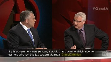 """Our view is, in the current environment, given you have got very low returns on superannuation, it is not the time to introduce new taxes."": Treasurer Joe Hockey."