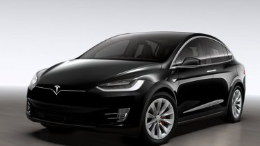 The Tesla Model X, which will be available from Myer.