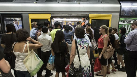 Patronage on Sydney's train network has surged over the past year.