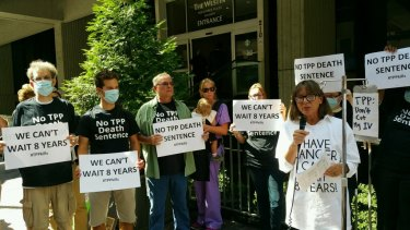 The TPP talks have attracted protests.