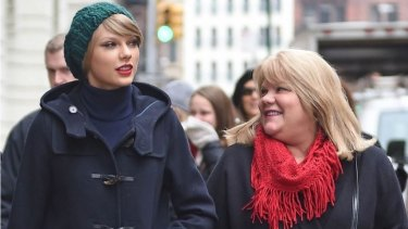 Health check ... Taylor Swift, left, encouraged her mother, Andrea Finlay, to get screened for cancer prior to Christmas.