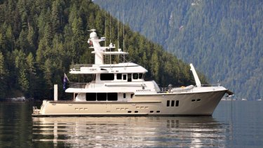 'Ammonite' the luxurious Nordhavn 76 owned by Marcus Blackmore.