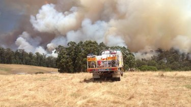 The fire in Northcliffe is almost indefensible as crews battle to contain it.