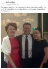 Stefanovic with hair transplant surgeon, Dr Jennifer Martinick (left) and a friend (right).