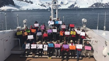 A Women's March protest was even held in Antarctica.