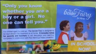 The Australian Christian Lobby election flyer featuring Jo Hirst's book <i>The Gender Fairy</i>.
