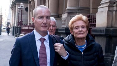 Timothy Baker (left) outside the Melbourne Supreme Court last month.