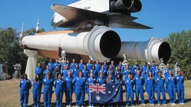 Students at Space Camp in Huntsville, Alabama.