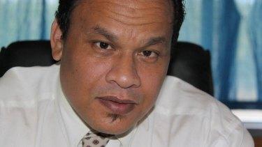 Former Nauruan president Sprent Dabwido.