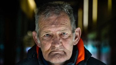 Norm Lathan saw his alleged abuser in a car park and wanted to run him down.