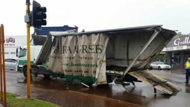 The Benara Nurseries truck after emerging from the bridge.