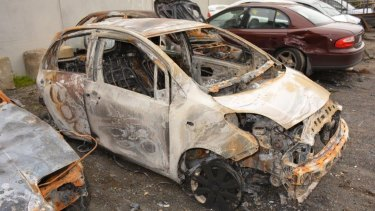 Ben van Mierlo's car, a 2010 Toyota Yaris, was found completely burnt out near Cardinia Reservoir.