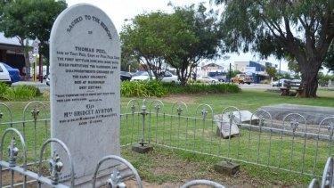 The grave of Thomas Peel at Christ's Church Anglican Church in Mandurah.