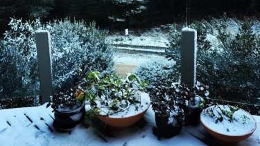 The snow at Daylesford's Lake House.