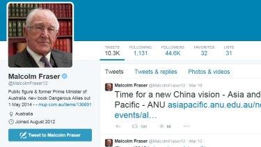 Malcolm Fraser's Twitter page @MalcolmFraser12.