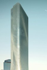 The 82-level tower proposed for 555 Collins Street that planning minister Richard Wynne has refused.