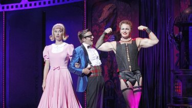 Christie Whelan-Brown and Tim Maddren with Craig McLachlan in The Rocky Horror Show.