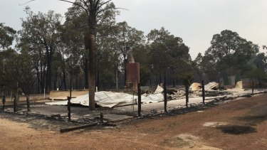 The small town of Yarloop was devastated by the fires.