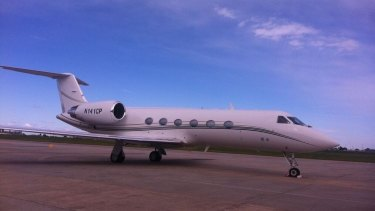 The jet used to allegedly secure $1.5 million.
