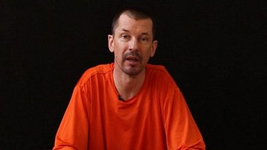 John Cantlie in a video created by an Islamic State media arm.