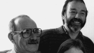 Peter Bonsall-Boone (far left) and Peter de Waal (far right) in 1990. Their publishing ventures, along with the establishment of Phone-a-Friend, will be long remembered.