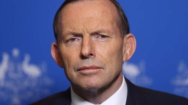 """""""This is a potentially corrupt position"""": Tony Abbott criticises lobbyists in the Liberal Party."""