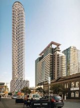 An artist's impression of the 57-tower development proposed for City Road, Southbank.