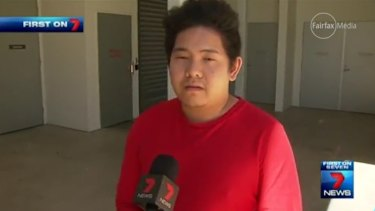 Kevin Pua speaks to media the day after his sister suffered head injuries, which ultimately proved fatal.