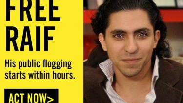"""The Saudi regime meted out 50 lashes to blogger Raif Badawi for the crime of """"insulting Islam."""""""