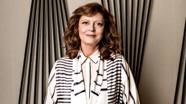 Susan Sarandon provides one of the many voices in the audiobook version of George Saunders'  Lincoln in the Bardo.