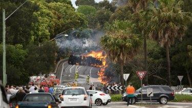 The scene of the Mona Vale crash.