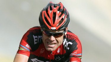 Cadel Evans races in the 2011 Tour de France.