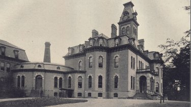The main building of the Willard Asylum. Some asylum patients were not expected to ever leave.