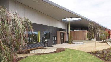 Ocean Grove's Boorai Centre keeps a safe outdoor play space close by.