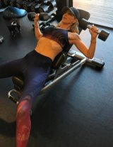 Roxy Jacenko during a personal training session with Ben Lucas.