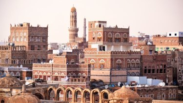 Ancient City of Sanaa in Yemen, 2013.